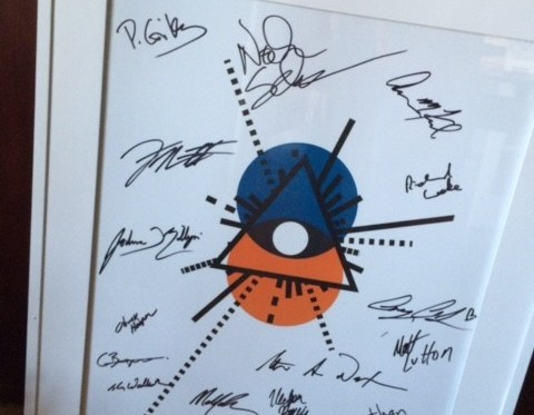 A gift from Behfar - a #datavision poster signed by the Zen Masters.