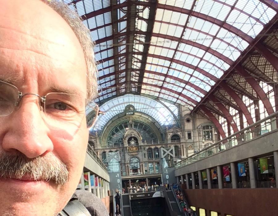 Central Train Station in Antwerp.