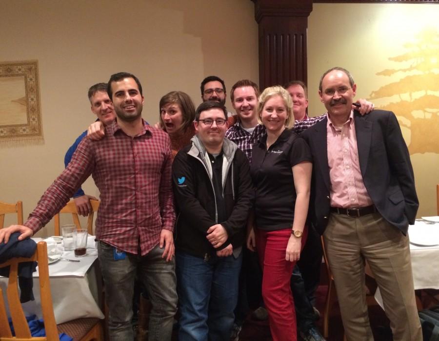 Daniel Seisun & Josh Varner of Twitter, formerly InterWorks, joined us for dinner.