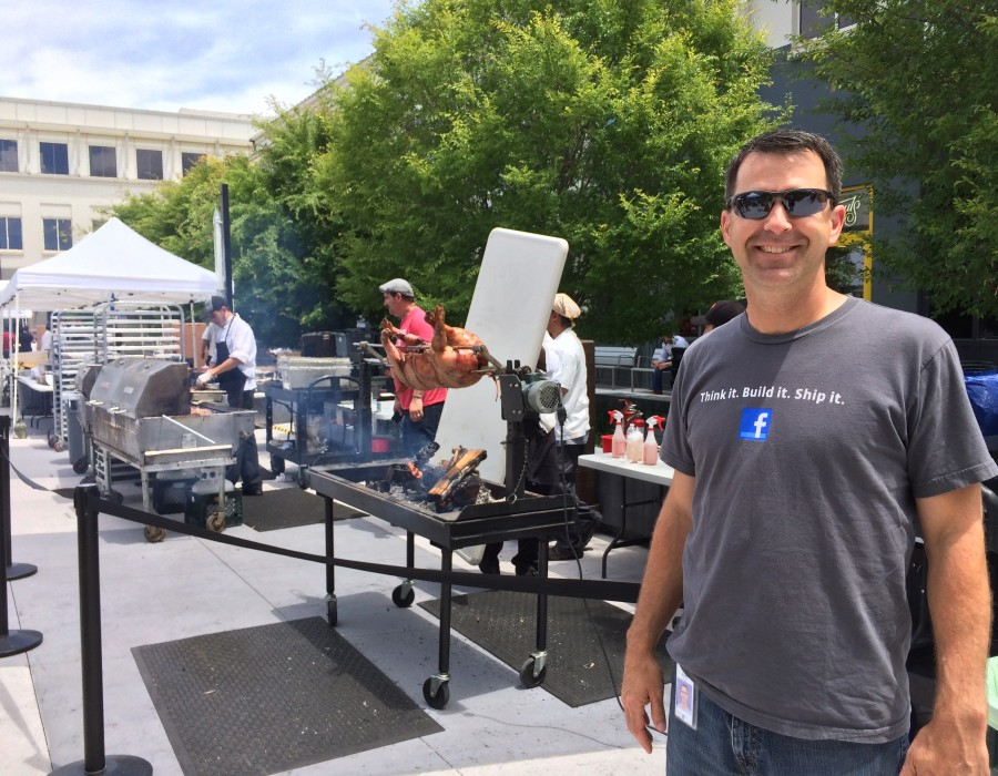 Roasting a pig at Facebook with Zen Master, Andy Kriebel.