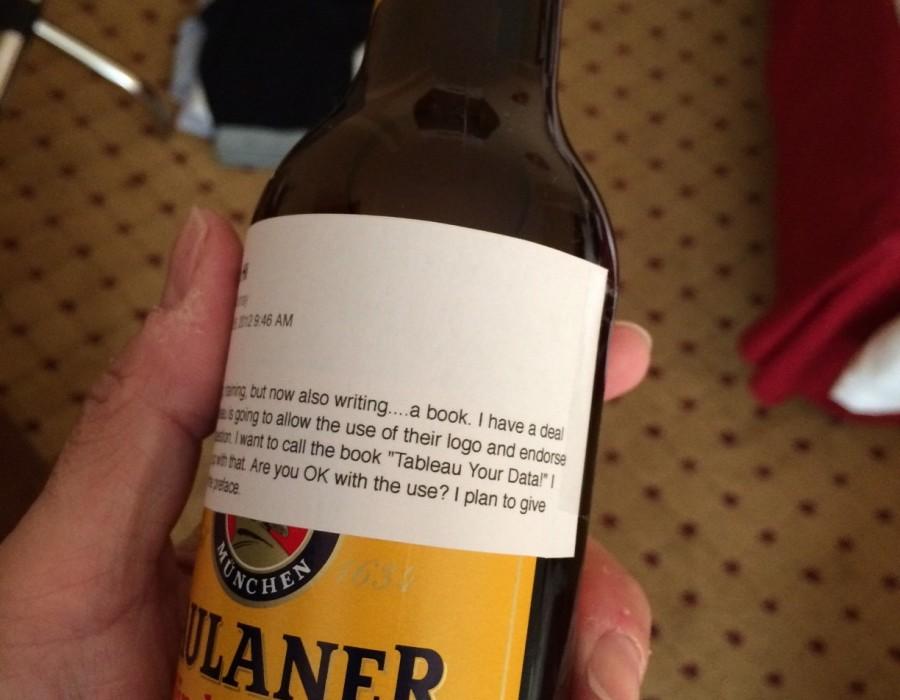 Gift from a Tableau friend in Munich.