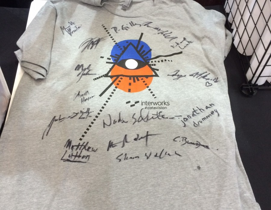 An InterWorks #datavision shirt signed by all the Zen Masters.