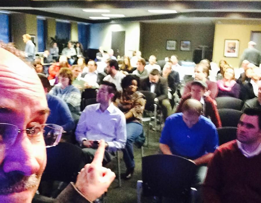 Talk in Minneapolis. Over 100 people.