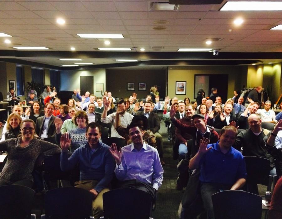 Minneapolis crowd.